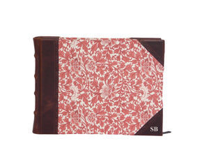 Half Leather Signature Book- Provence Red