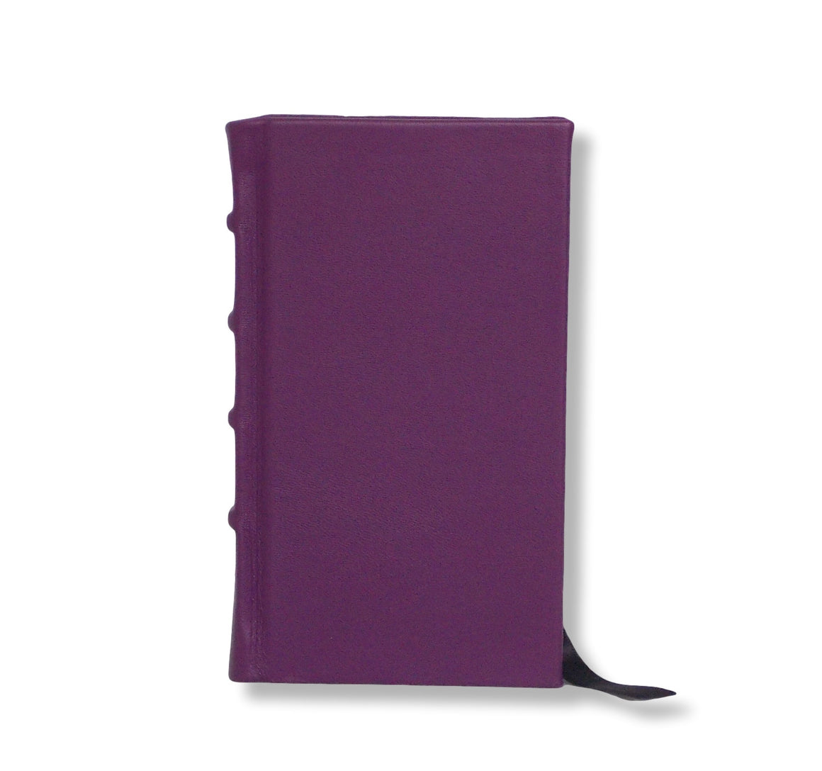 Purple leather slimline journal
