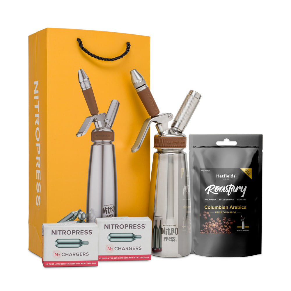 The Original NitroPress Starter Kit - Mustard - 20 Nitro Chargers + Rapid Cold Brew