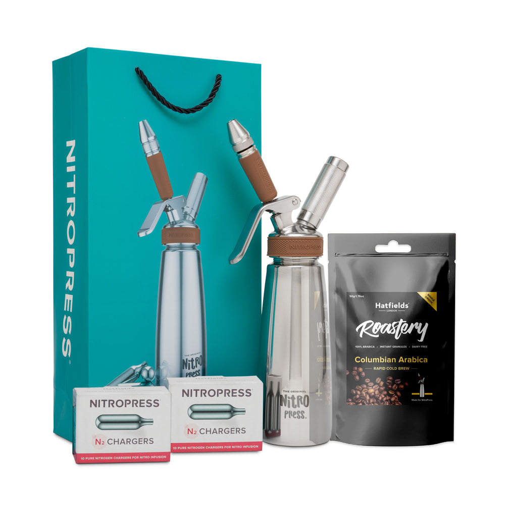 The Original NitroPress Starter Kit - Teal - 20 Nitro Chargers + Rapid Cold Brew