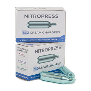 NitroPress Cream Chargers - Box of 20