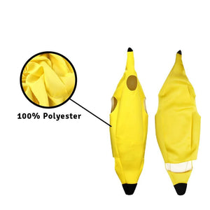 Banana Costume with Lightweight Soft and Breathable Polyester Material, Cosplay Suit for Halloween Costume Party Fancy Ball, Fits Kids Adult Men and Women