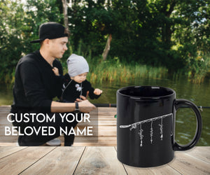 Gift for Fisherman Dad - Personalized Gift - Father's Day Gift - Custom Kids' Names