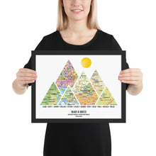 Load image into Gallery viewer, Personalized Adventure Map (Framed) - Custom Travel Map Anniversary, Wedding Gift