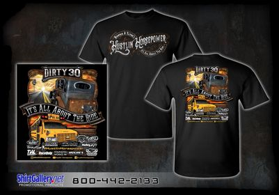 Short sleeve Dirty 30 and Spoolbus T-SHIRT