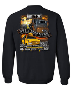 Crew Neck Sweatshirt Dirty 30 and Spoolbus