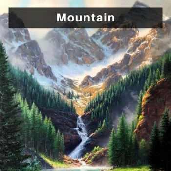 Mountain diamond painting kits