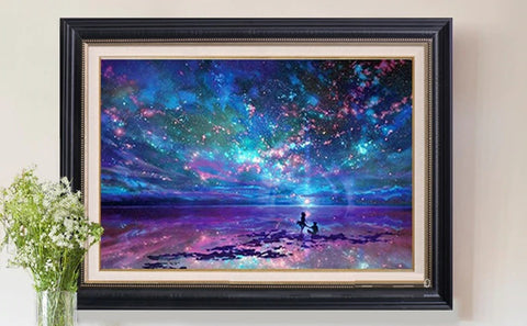 The Dreamy Night Sky - Diamond Painting Art