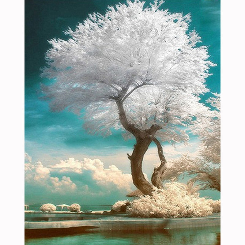 Snow White Tree - Diamond Painting Kit