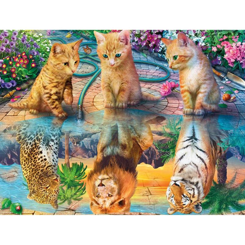 3 Cat Reflections - Diamond Painting Kit