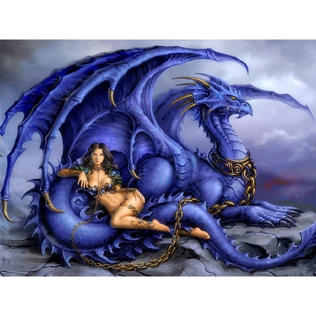 Chained Dragon - Diamond Painting Kit