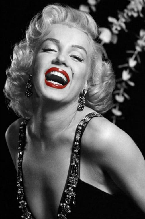 Laughing Marilyn Monroe - Diamond Painting Kit