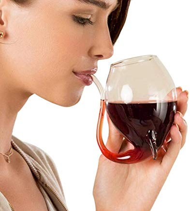 Nectar - Wine Glass With Straw