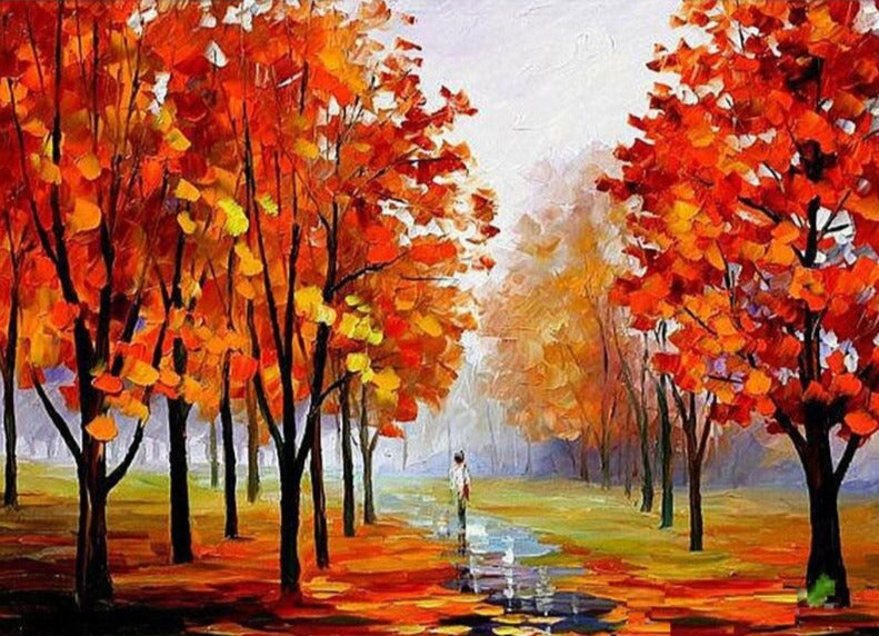 Autumn Tree - Diamond Painting Kit