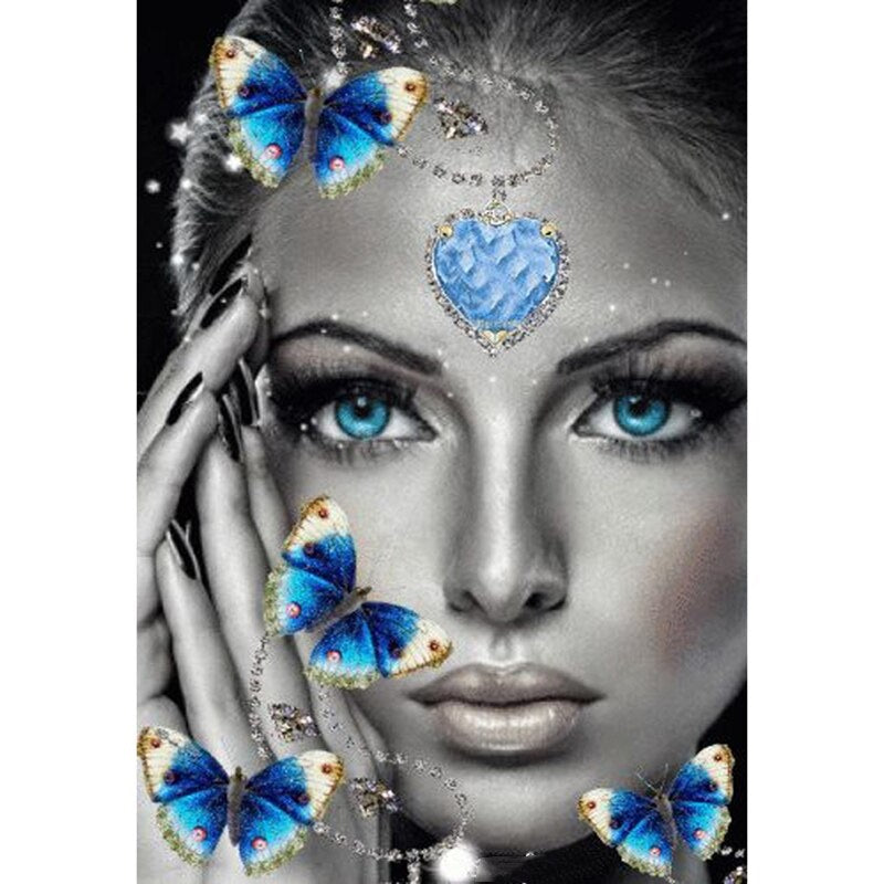 Butterfly Woman Diamond Painting Kit