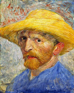 Van Gogh's Self Portrait with Straw Hat - Paint By Number Kit