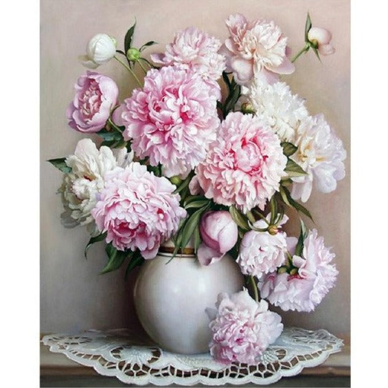 Serene Peonies - Paint By Number Kit