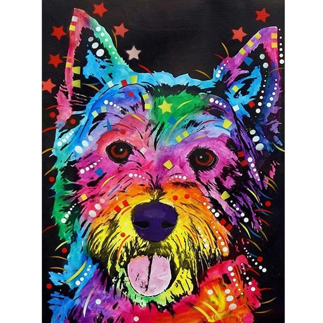 Pop Art Fur Dog - Diamond Painting Kit