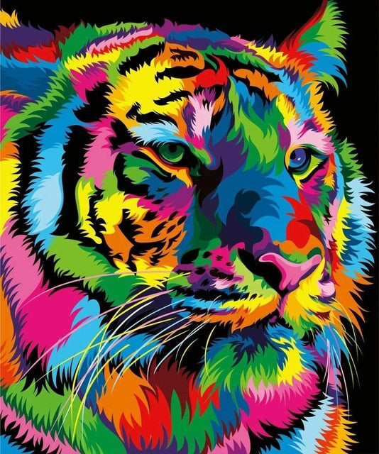 Rainbow Tiger - Diamond Painting Kit