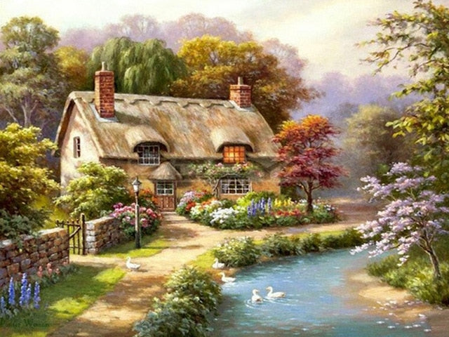 Peaceful Cottage- Diamond Painting Kit