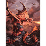 Blazing Dragon - Diamond Painting Kit