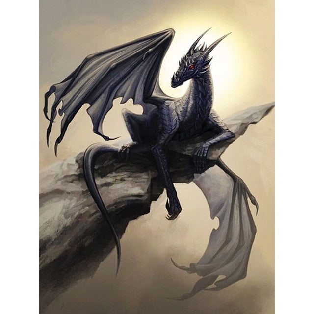 Black Dragon - Diamond Painting Kit