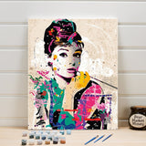 Audrey Hepburn - Paint By Number Kit