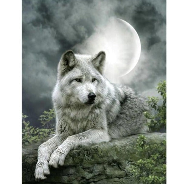 White Wolf - Diamond Painting Kit