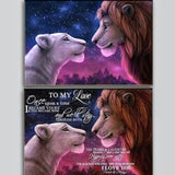 Lion King To Love - Diamond Painting Kit