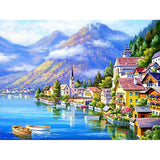 Mountain Lake Town - Diamond Painting Kit