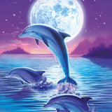 Moonlight Dolphin - Diamond Painting Kit