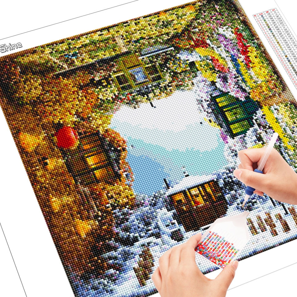 Cottage On All Sides - Diamond Painting Kit
