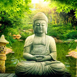 Buddha In Greens - Diamond Painting Kit