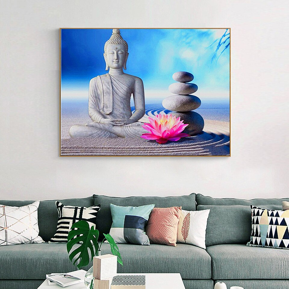 Serene Lotus Buddha - Diamond Painting Kit