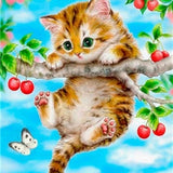 Hanging Cat - Diamond Painting Kit