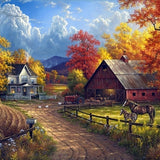 Mountain Cottage - Diamond Painting Kit