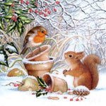 Sparrow & Squirrel - Diamond Painting Kit