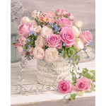 Pink Rose Bouquet - Diamond Painting Kit