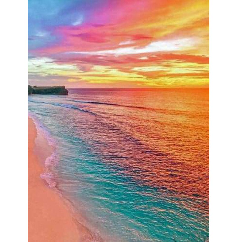 Rainbow Beach - Diamond Painting Kit