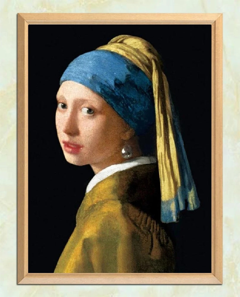 Girl With a Pearl Earring - Diamond Painting Kit