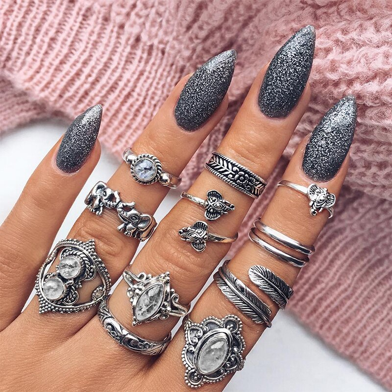 Bohemian Ring Stack - 15 Ring Set
