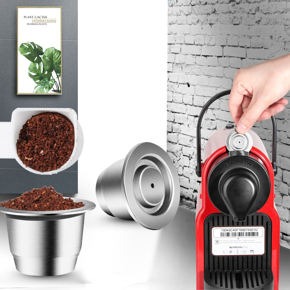 Reusable Refillable Capsule For Nespresso Coffee Maker