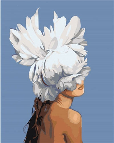 Flower Hat Girl - Paint By Number Kit