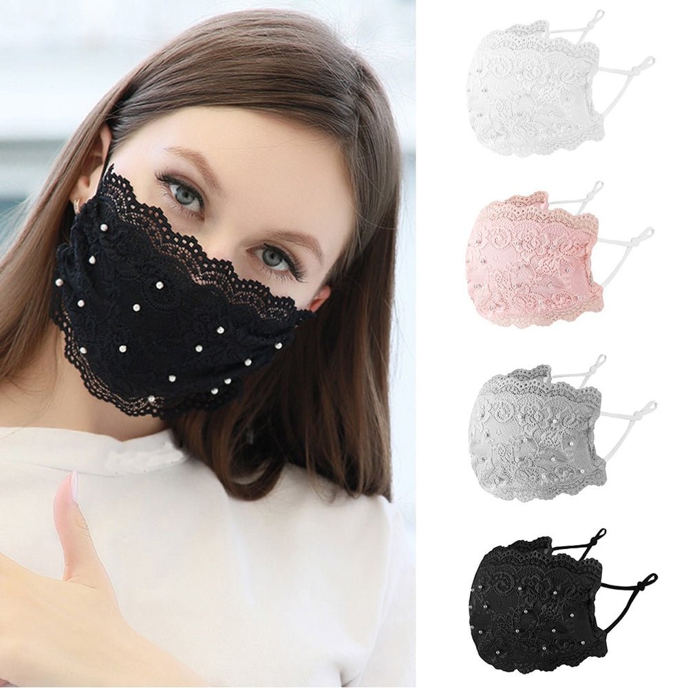 Pearl Lace Reusable Mask