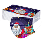 Children's Disposable Christmas Halloween Print Face Mask