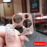 Glitter Crystal Diamond Camera Lens Protector Film For iPhone
