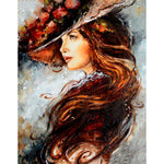 Hat Woman - Diamond Painting Kit