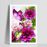 Flower Butterfly - Diamond Painting Kit