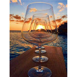 Wine Glass Sunset - Diamond Painting Kit