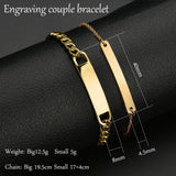 Customized Engraving Couple Name Bracelet